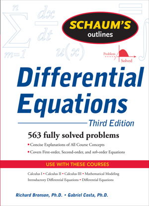Cover art for Schaum's Outlines Differential Equations 3rd Edition