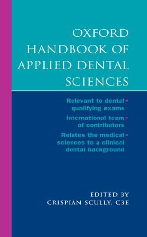Cover art for Oxford Handbook of Applied Dental Sciences
