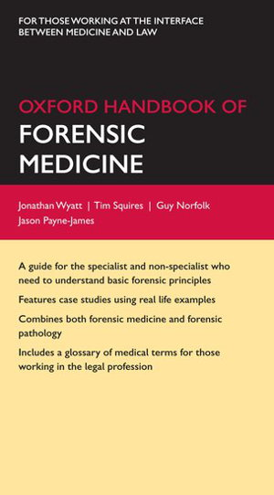 Cover art for Oxford Handbook of Forensic Medicine